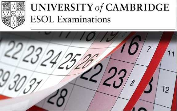 Notification of Cambridge ESOL Exam Fees and Dates for 2020.